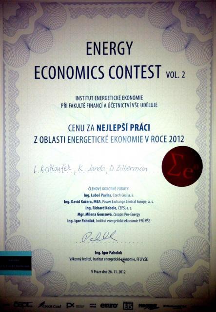 Energy Economics Contest 2012